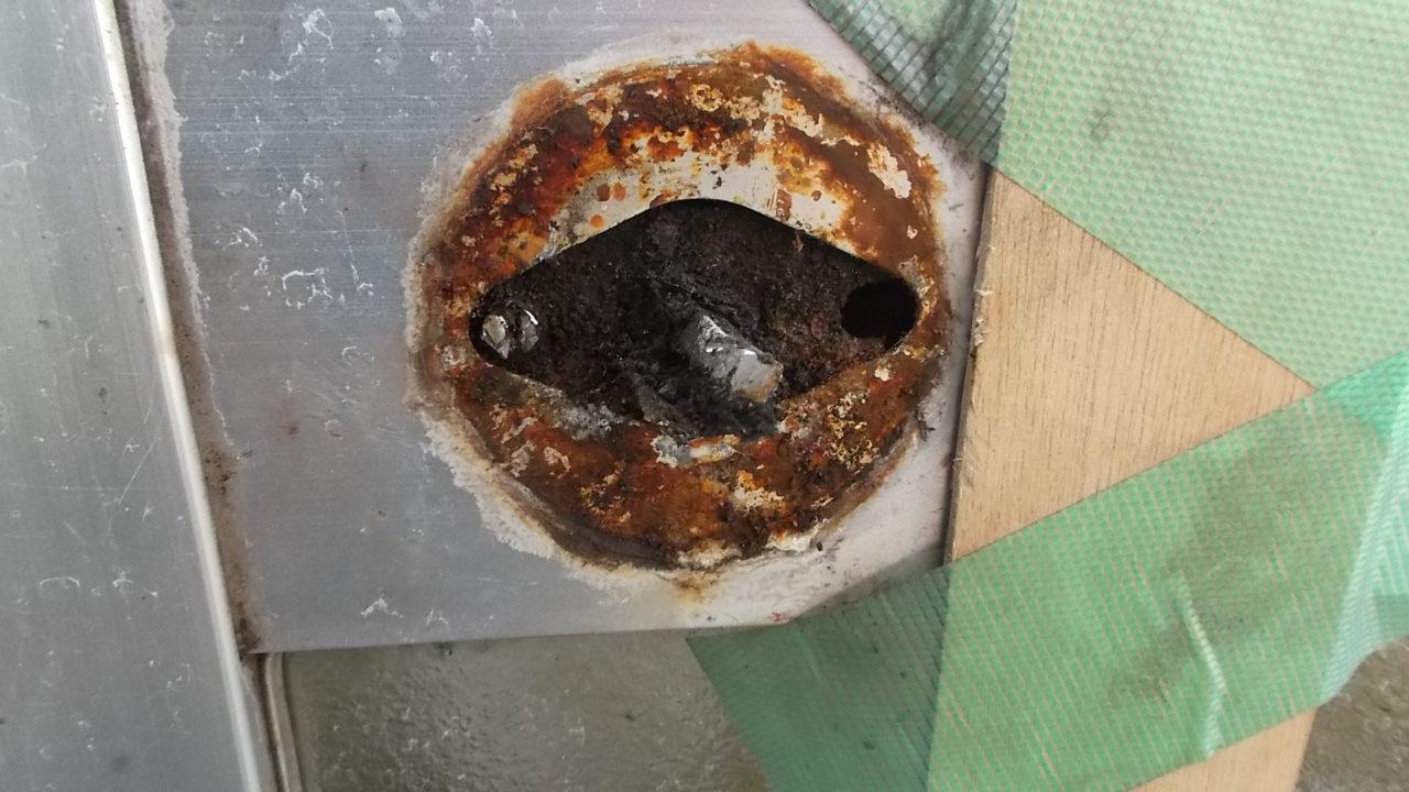 浴室ドアノブサビ